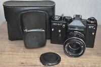Exc! ZENIT ET 35 mm SLR film camera MC Helios 77M-4 f/1.8 50mm M42 Lens USSR