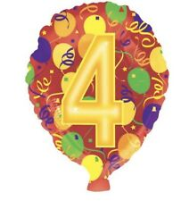 "Number 4 4th Birthday 18"" Balloon Birthday Party Decorations"