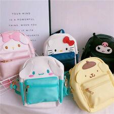 Cute Girl Backpack Women Kuromi Melody Cinnamoroll Pompompurin Crossbody Bag