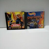 Lot of 2 Tonka Construction 2 Hot Wheels Stunt Track Driver 2 PC CD-ROM Games