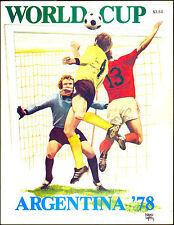 WORLD CUP ARGENTINA 1978 FOOTBALL SOCCER PROGRAM PHOTOS TEAMS PLAYER CRUYFF PELE