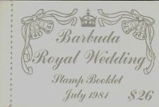 BARBUDA MNH 1982 ROYAL WEDDING BOOKLET ISSUE (NO PERFS BETWEEN HORZ PAIRS)