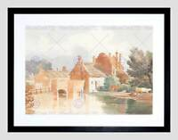 JAMES BULWER BRITISH BURE AYLSHAM NORFOLK BLACK FRAMED ART PRINT B12X5123