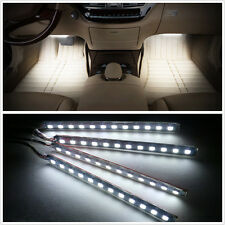 White 12 LED Car Interior 12V Charge Footwell Decorative Atmosphere Lights Lamp