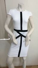 Victoria's Secret Women Bodycon Dress Size XS , Main White, Trim Black