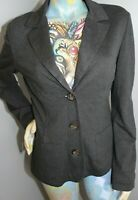 MAX MARA Weekend Women's Gray Blazer Cut 3-Button Sweater Cardigan Size XL