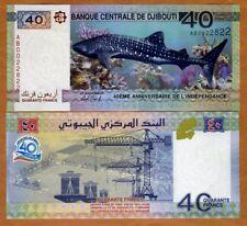 Djibouti, 40 Francs, 2017 , P-New, UNC > Commemorative, Independence