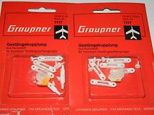 vintage LOT 2x GRAUPNER 1117 Gestängekupplung SERVO Linkage coupling