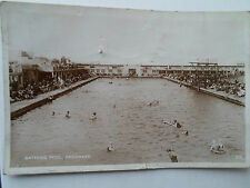 Bathing Pool, Skegness Franked+Stamped 1929 ~ Old  Real Photo Postcard ~