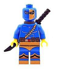 Custom Designed Minifigure - Deathstroke Blue Printed on LEGO Parts
