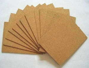 CORK SHEET, 220 mm X 190 mm, CHOOSE THICKNESS, LANDSCAPE MATS.