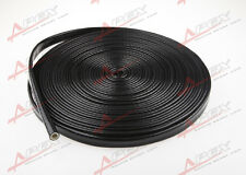 """1"""" Inch Silicone Jacketed Thermal Heat Sleeving Protector Black Wire"""