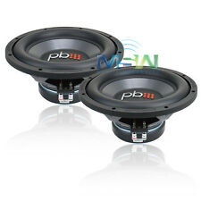 "(2) NEW PowerBass L-1204D 12"" CAR STEREO SUBWOOFERS SUBS 4-OHM DVC L1204D *PAIR*"