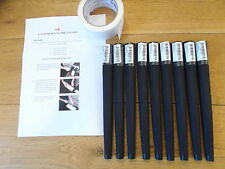 Lamkin Arthritic Golf Grips x 9 with instructions and tape