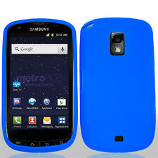 For Samsung Galaxy S Lightray 4G Rubber SILICONE Soft Gel Skin Case Cover Blue