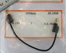 "Pomona 1081-4-0 Miniature Stacking Banana Plug (Gold) 4"" Patch Cord Black Mini"