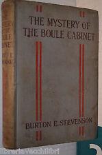 THE MISTERY OF THE BOULE CABINET A detective story Burton E Stevenson 1917 libro