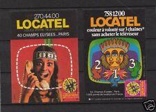 2 étiquettes Allumettes France Locatel Indien