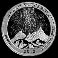 2012 S Volcanoes HI America the Beautiful National Parks ~ Clad Proof