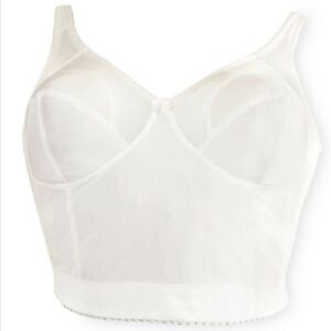 Longline Soft Cup Bullet Bra Wire Free 2 Colors Back Close Smoothing Crownette