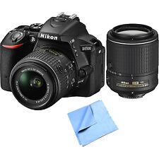 Nikon D5500 24.2 MP DX DSLR Camera w/ 18-55mm & 55-200mm VR II Lenses Bundle