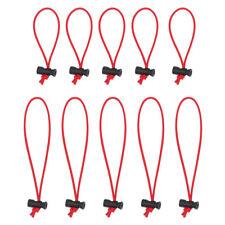 Multipurpose 3mm Toggle Tie/Elastic Cable Tie&Organizer (5x 25CM+5x 16CM Red)