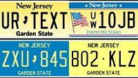 Custom New Jersey REFLECTIVE License Plate Tag Reproduction, Many Types!