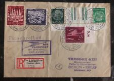 1941 Rhein Germany Colorful Frank Cover To Berlin Rare Airmail Seal
