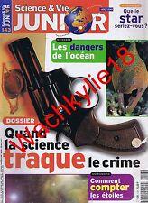 Science et vie junior n°143 du 08/2001 Police scientifique Éléphant Siam Gestuel