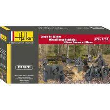 HELLER HELL81102 HELLER 81102 CANON 25 MM + MITRAILLEUSE + SIDECAR SAUMUR 1/35
