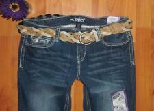 NWT $68.00 RETAIL KARDASHIAN REACTION GREY PRINTED DENIM JEANS Women's Jeans