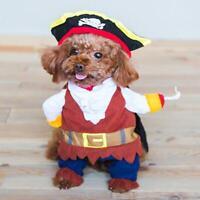 Puppy Pet Dog Halloween Funny Costume Pirate Captain Cute Cloak Fashion S-XL