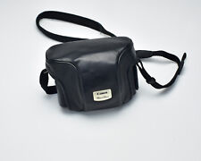 Genuine Black Leather Canon Powershot Eveready Camera Case (#T497)