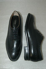 WOMAN -39 - WINGTIP DERBY WITH PERF & MEDALLION - BLACK CALF-LTH SOLE+DAINITE