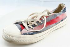 Converse All Star Size 7 M Red Lace Up Fashion Sneakers Fabric Shoes