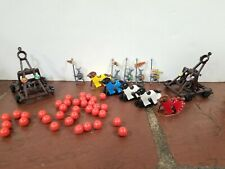 Lot Weapons & Warriors Horses, Knights, 2 catapults and cannonballs