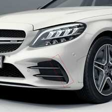 Genuine Mercedes Benz C43 AMG W205 C205 A205 Facelift Front Bumper Flaps Winglet