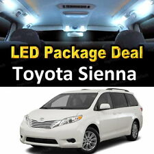 17x White LED Lights Interior Package Deal For 2004-2008 2009 2010 Toyota Sienna