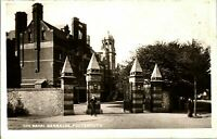 The Naval Barracks Portsmouth RPPC real photograph antique postcard military