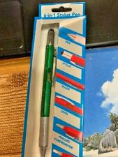 GREEN  STYLUS 6 in 1 PEN FOR TOUCH SCREEN PHONES USE WITH IPAD & IPHONE