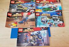 LEGO BUNDLE - 5 INSTRUCTION MANUALS LEGO FROM SUPERHERO'S SETS