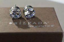 Earrings P2381 Queen For A Day Rare Silpada Cubic Zirconia Sterling Silver Stud