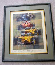 1997  F1 AUTOGRAPHED EDDIE JORDAN TEAM SCHUMACHER  FISICHELLA  FRAMED FERRIGNO