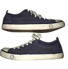 Ugg Australia Evera Sheep Lined Sneaker Blue Canvas/ Leather Size 9.5 Women's