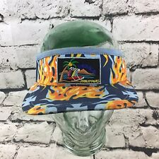 Boracay Philippines Men's One Sz Hat Blue Flaming Adjustable Vacation Visor