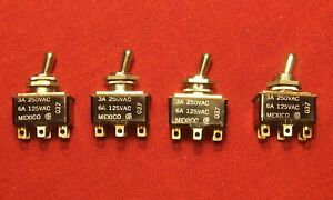 4 Cutler Hammer 8373K8 Toggle Switch 2 Position 3Amp 250VAC 6Amp 125VAC