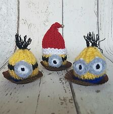 Minion Set knitting pattern Lindt Lindor/ Ferrero Rocher cover Christmas option