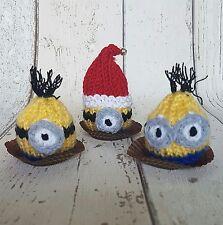 Minion Set knitting pattern Lindt Lindor/ Ferrero Rocher cover Christmas option