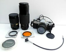 Vintage Canon AE-1 SLR Film Camera Bundle - Black