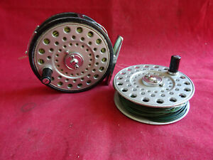 """A VINTAGE 3 1/8"""" DAIWA 710 LIGHTWEIGHT TROUT FLY REEL + SPARE SPOOL"""